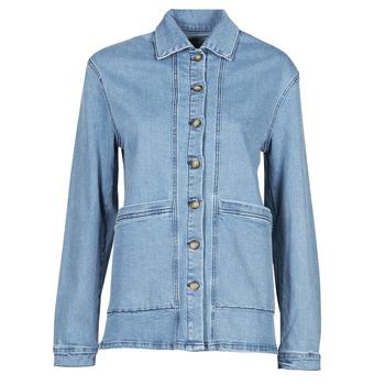 material Women Denim jackets Betty London OVEST Blue / Medium