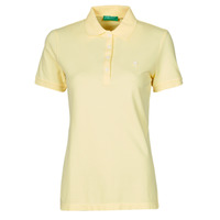 material Women short-sleeved polo shirts Benetton JOPLO Yellow