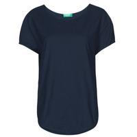 material Women short-sleeved t-shirts Benetton FOLLIA Blue
