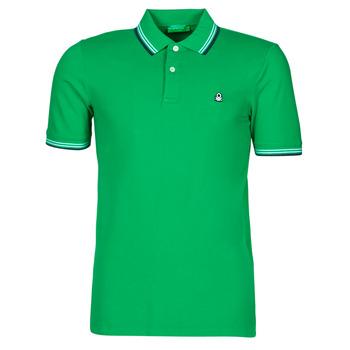 material Men short-sleeved polo shirts Benetton 3WG9J3181-108 Green