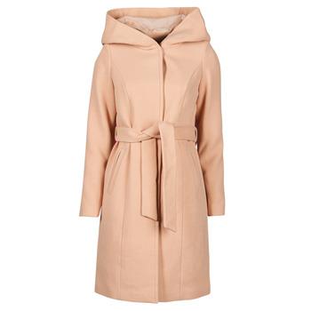 material Women coats Vero Moda VMCALALYON HOOD 3/4 JACKET GA Pink