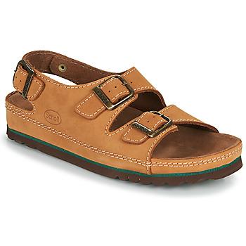 Shoes Men Sandals Scholl AIRBAG BACK STRAP Brown