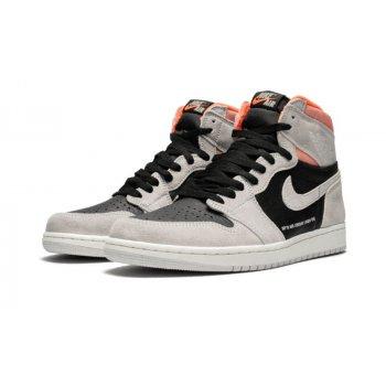 Shoes High top trainers Nike Air Jordan 1 High Hyper Crimson Neutral Grey/Hyper Crimson-White-Black
