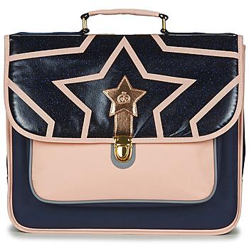 Bags Girl Satchels Citrouille et Compagnie SCUOLA 38CM Marine / Pink