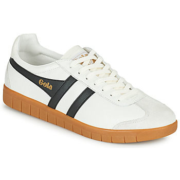 Shoes Men Low top trainers Gola HURRICANE LEATHER White / Black