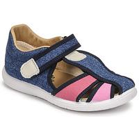 Shoes Girl Sandals Citrouille et Compagnie GUNCAL Blue / Jeans