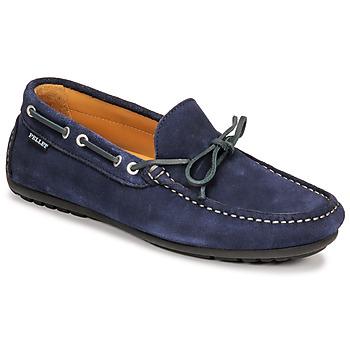 Shoes Men Loafers Christian Pellet Nere Blue