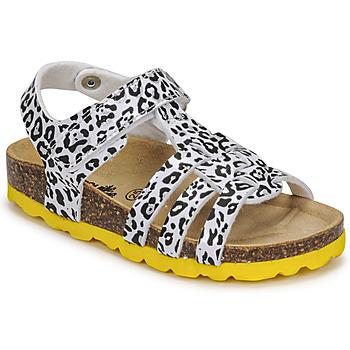 Shoes Girl Sandals Citrouille et Compagnie JANISOL Leopard / White / Black