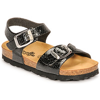 Shoes Girl Sandals Citrouille et Compagnie RELUNE Black / Serpent