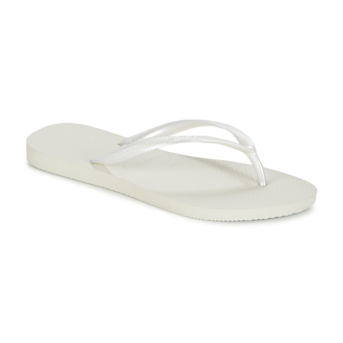 12fd3f42a55e87 Havaianas SLIM White - Fast delivery with Spartoo Europe ! - Shoes Flip  flops Women 26