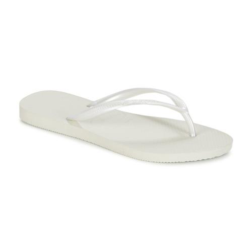 Shoes Women Flip flops Havaianas SLIM White