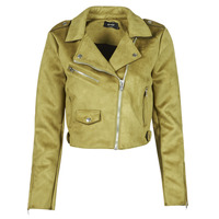 material Women Leather jackets / Imitation leather Only ONLSHERRY CROP BONDED BIKER  Green