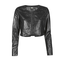 material Women Leather jackets / Imitation leather Only ONLPEGGY Black