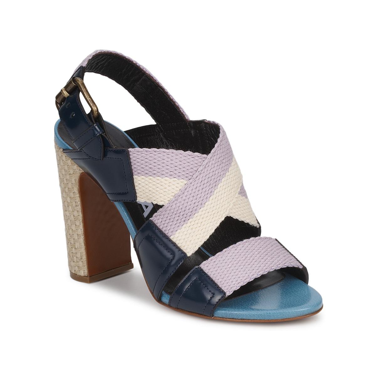 Sandals Rochas NASTR Black / Violet / ECRU