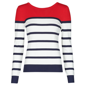 material Women jumpers Betty London ORALI Red / Ecru