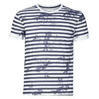material Men short-sleeved t-shirts Yurban OLORD Marine / White