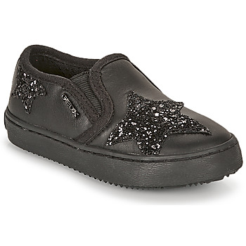 Shoes Girl Low top trainers Geox J KALISPERA FILLE Black