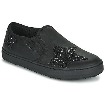 Shoes Girl Low top trainers Geox J KALISPERA FILLE Black