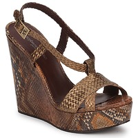 Shoes Women Sandals Stéphane Kelian CAMERON Bronze / Python