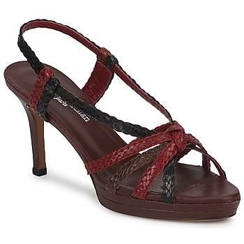 Shoes Women Sandals Stéphane Kelian PRISCILLE Brown / Red