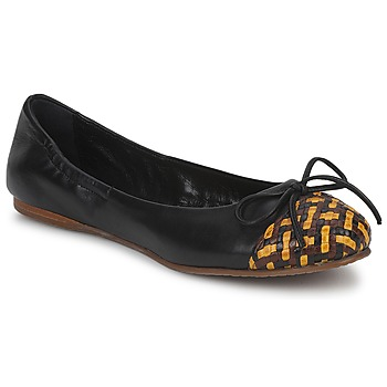 Shoes Women Ballerinas Stéphane Kelian WALLY Black / Yellow