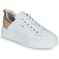 Shoes Women Low top trainers NeroGiardini GATTO White / Pink / Gold