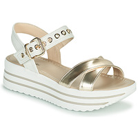 Shoes Women Sandals NeroGiardini TIMMA White / Gold