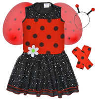 material Girl Fancy Dress Fun Costumes COSTUME ENFANT BIRDIE BEETLE Multicolour