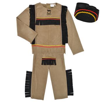 material Boy Fancy Dress Fun Costumes COSTUME ENFANT INDIEN BIG BEAR Multicolour