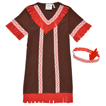 material Girl Fancy Dress Fun Costumes COSTUME ENFANT INDIENNE FOX KITTEN Multicolour