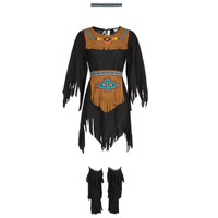 material Women Fancy Dress Fun Costumes COSTUME ADULTE INDIENNE SHE-WOLF Multicolour