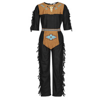 material Men Fancy Dress Fun Costumes COSTUME ADULTE INDIENNE SHE-WOLF Multicolour