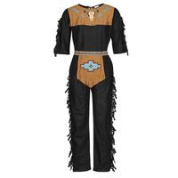 material Men Fancy Dress Fun Costumes COSTUME ADULTE INDIEN NOBLE WOLF Multicolour