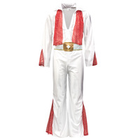material Men Fancy Dress Fun Costumes COSTUME ADULTE ROCK 'N ROLL STAR Multicolour