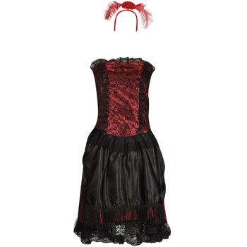 material Women Fancy Dress Fun Costumes COSTUME ADULTE SALOON GIRL Multicolour