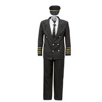material Men Fancy Dress Fun Costumes COSTUME ADULTE PILOTE Multicolour