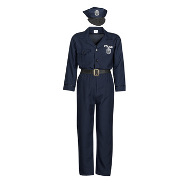 material Men Fancy Dress Fun Costumes COSTUME ADULTE OFFICIER DE POLICE Multicolour