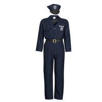 material Men Fancy Dress Fun Costumes COSTUME ADULTE OFFICIER DE POLICE Multicolour