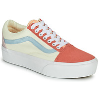 Shoes Women Low top trainers Vans OLD SKOOL PLATFORM White / Pink