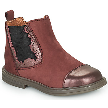 Shoes Girl Mid boots Little Mary ELVIRE Bordeaux