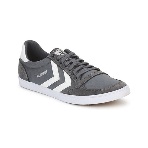 Shoes Men Low top trainers Hummel TEN STAR LOW CANVAS Grey / White