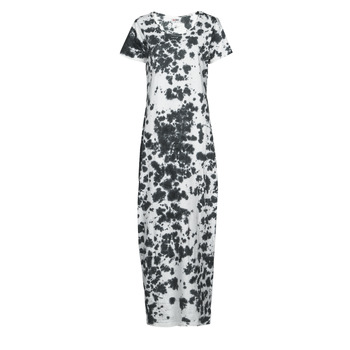 material Women Long Dresses Yurban OVIZ Grey / White