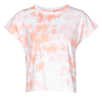 material Women short-sleeved t-shirts Yurban ONILA White / Pink