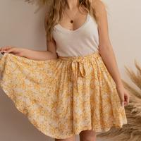 material Women Skirts Céleste EGLANTINE Yellow / White