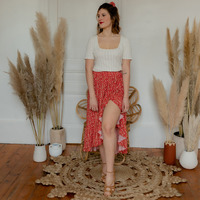 material Women Skirts Céleste TOURTERELLE Red / Multicolour