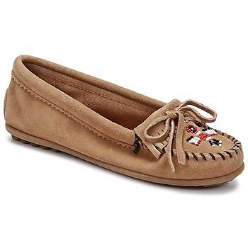 Shoes Women Loafers Minnetonka THUNDERBIRD II Taupe