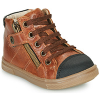 Shoes Boy High top trainers GBB KAMIL Brown