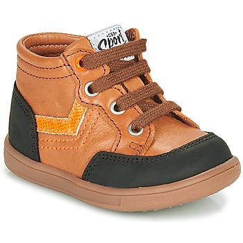 Shoes Boy High top trainers GBB VIGO Brown