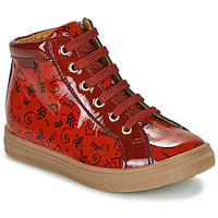 Shoes Girl High top trainers GBB PHILEMA Red