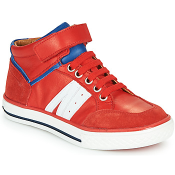 Shoes Boy High top trainers GBB ALIMO Red